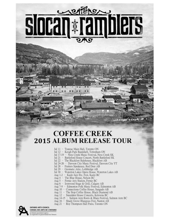 Coffee Creek 2015 Summer Tour Poster